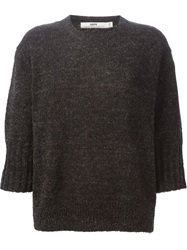 Hope Three Quarter Sleeve Sweater Black