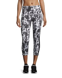 Xcvi Tie Dye Contrast Panel Cropped Leggings Black