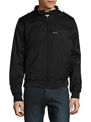Members Only Heavy Twill Zip Front Jacket Navy