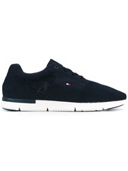 Tommy Hilfiger Lace Up Sneakers Men Polyester Rubber 44 Blue