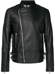 Les Hommes Off Centre Zip Jacket Black