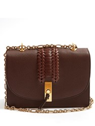 Altuzarra Ghianda Braided Pebbled Leather Shoulder Bag Dark Brown