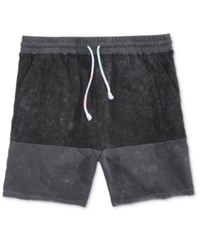 Neff Men's Bummin Plush Colorblocked Shorts Black