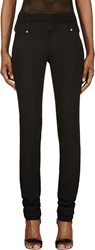 Anthony Vaccarello Black Studded Ottoman Trousers