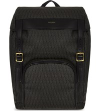 Saint Laurent Hiking Leather Backpack Brown