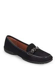 Donald J Pliner Vutra Calf Hair Loafers Black