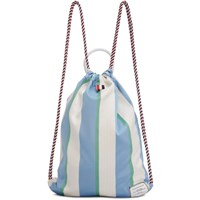Thom Browne Tricolor Stripe Drawcord Backpack
