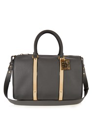 Sophie Hulme Charlton Leather Bowling Bag Dark Grey