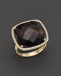 Bloomingdale's Smokey Topaz And Diamond Statement Ring In 14K Yellow Gold Brown Gold