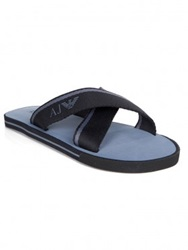 Armani Jeans Navy Cross Strap Sandals