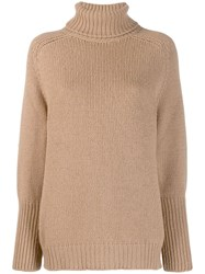 Ralph Lauren Collection Roll Neck Sweater Neutrals