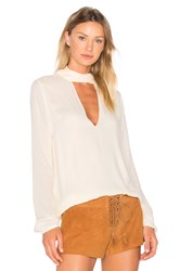 The Jetset Diaries Empire Blouse Cream