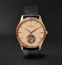 Jaeger Lecoultre Master Ultra Thin Tourbillon 40Mm 18 Karat Rose Gold And Alligator Watch Brown