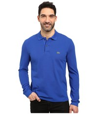 Lacoste L S Classic Pique Polo Steamship Blue Men's Long Sleeve Pullover