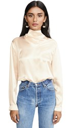 Le Kasha Long Sleeve Blouse Neck Detail Cream