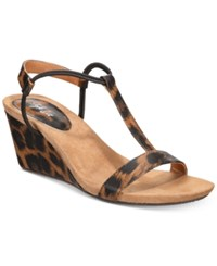 Styleandco. Style Co Mulan Wedge Sandals Created For Macy's Women's Shoes Leopard