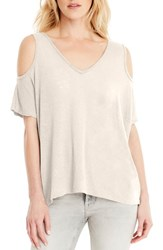 Michael Stars Women's Cold Shoulder Tee Chalk