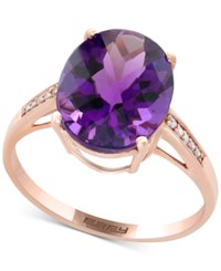 Effy Viola Amethyst 4 1 6 Ct. T.W. And Diamond Accent Ring In 14K Rose Gold