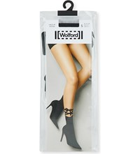 Wolford Lace Up Woven Socks Black