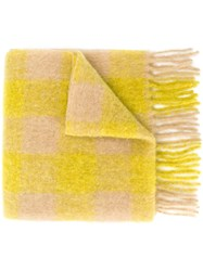 Forte Forte Checked Scarf Yellow