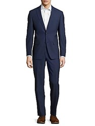 Michael Kors Wool Textured Suit Navy
