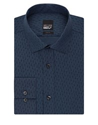 William Rast Textured Slim Fit Dress Shirt Navy