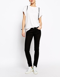 Weekday High Waist Skinny Jeans Black