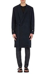 Simon Miller Men's Slub Weave Wrap Coat Blue