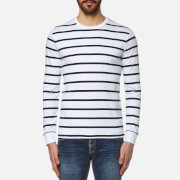 Polo Ralph Lauren Men's Long Sleeve Striped T Shirt White Navy