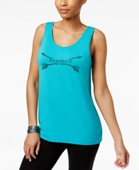 G.H. Bass And Co. Logo Graphic Tank Top Teal Black