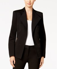 Calvin Klein Zip Pocket Open Front Blazer Black