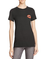 Michelle By Comune Vampire Lips Graphic Tee 100 Bloomingdale's Exclusive Black