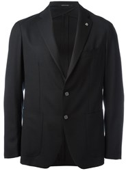 Tagliatore Two Button Blazer Black