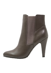 Anna Field High Heeled Ankle Boots Taupe