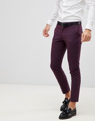 Selected Homme Damson Suit Trouser In Skinny Fit Plum Perfrect Red