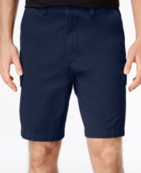 Geoffrey Beene Men's Washed Twill Cargo Shorts Navy