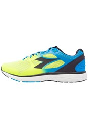 Diadora Run505 Neutral Running Shoes Fluo Cyan Blue Fluo Yellow Black