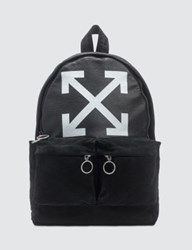 Off White Leather Backpack