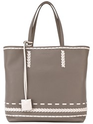 Tod's 'Gipsy Shopping' Tote Women Calf Leather One Size Nude Neutrals