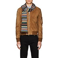 Paul Smith Striped Wool Blend Scarf Brown