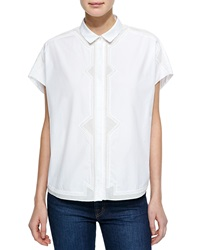 O'2nd Eco Oversized Top W Embroidered Front