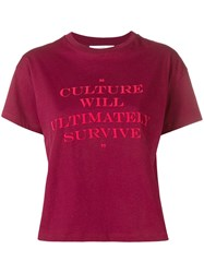 Roseanna Printed Crew Neck T Shirt Red