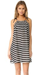 Kate Spade Striped Cover Up Dress Black