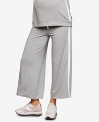 A Pea In The Pod Maternity Cropped Drawstring Pants Heather Grey