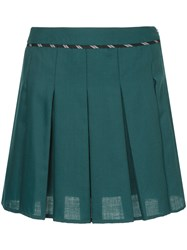 Guild Prime Pleated Mini Skirt Polyester Wool Green