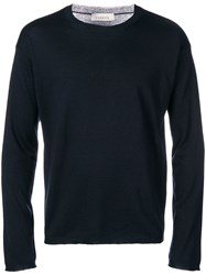Laneus Crewneck Jumper Blue
