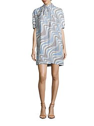 Opening Ceremony Damask Wave Print Shift Dress Multi