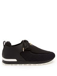 Balmain Doda Low Top Neoprene Trainers Black