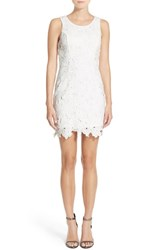 Astr Women's Textured Floral Body Con Dress White