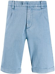 Perfection Washed Look Bermuda Shorts Blue